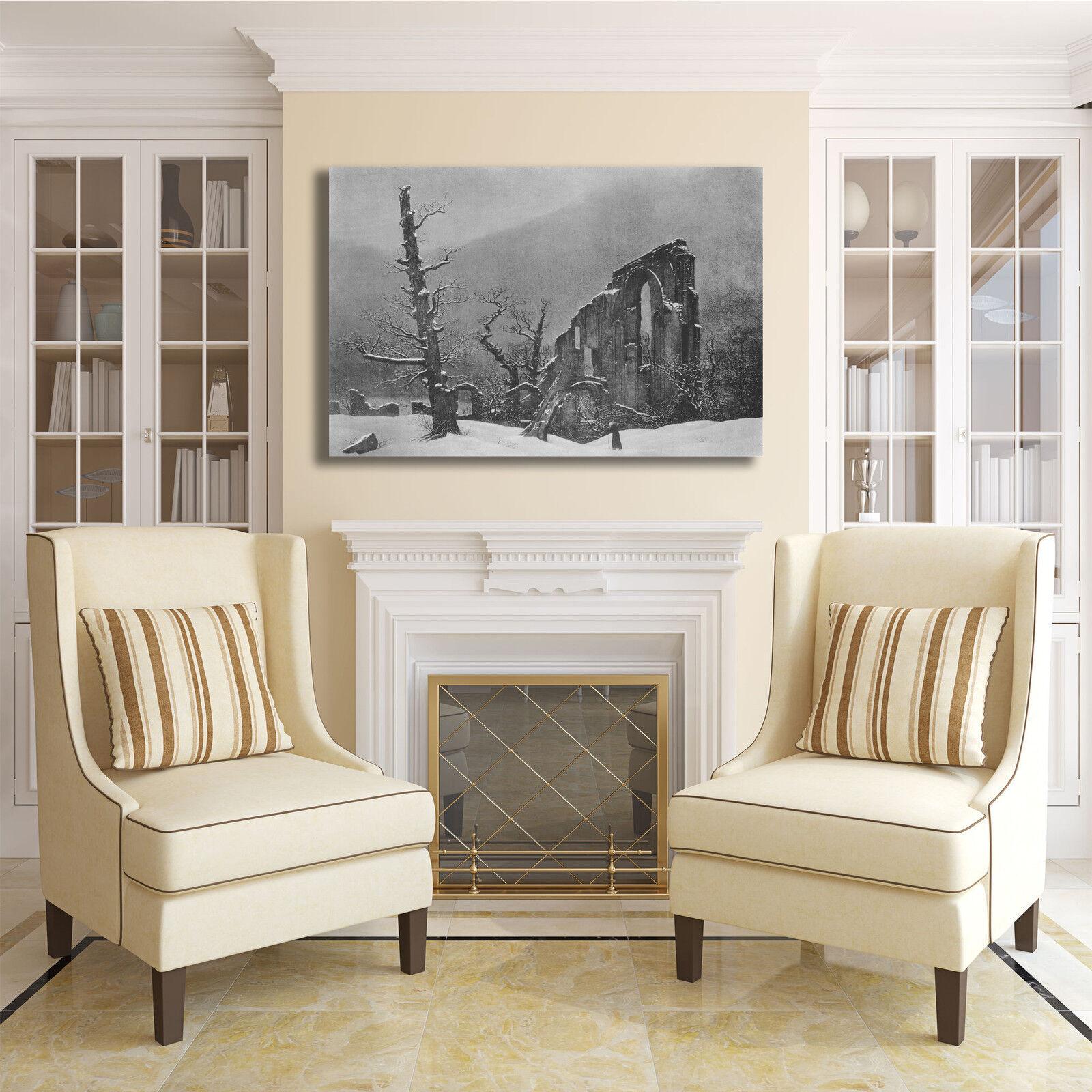 Caspar telaio inverno design quadro stampa tela dipinto telaio Caspar arRouge o casa 902794