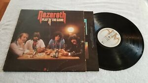 NAZARETH PLAY N THE GAME WITH ORIGINAL INSERT SP4610 A&M VINYL LP RECORD