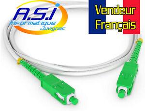 Cable Fibre Optique SC APC Orange Live Box, SFR, Bouygues Bbox  15m VENDEUR FR