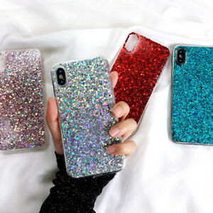 Bling-Glitter-Rubber-Soft-Case-Cover-For-Samsung-S20-S10-S9-Note-10-Plus-A8-A9