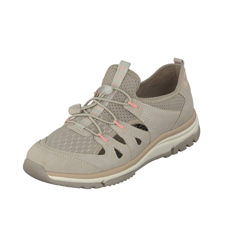 Relife Damen Schuhe Halbschuhe Trekking Slipper 9067-18801-12 Beige Gummizug