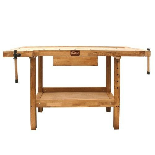 SIP Oak Wooden Work Bench 01441