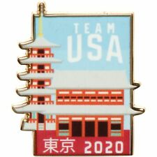 Team USA 2020 Summer Olympics Temple Lapel Pin