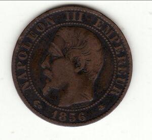 NAPOLEON-III-5-CENTIMES-TETE-NUE-1856-BB-TTB-cote-TTB-25-EURO