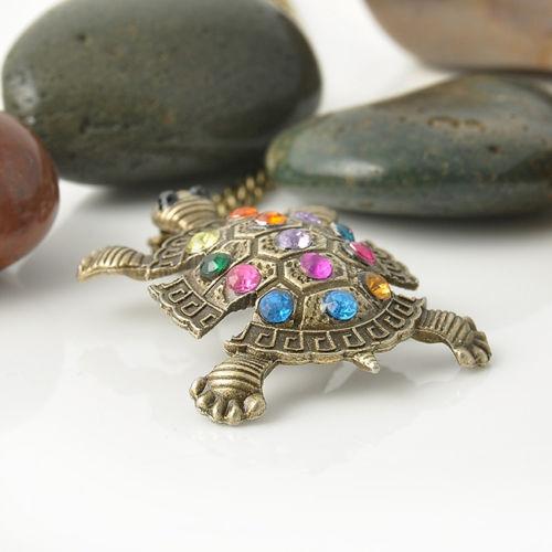 Vintage Turtle Necklace Pendant Boho Jewellery Gypsy Bohemian Ethnic A167