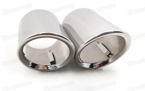 Car Exhaust Muffler Tip Tail Pipe Trim Silver for Volkswagen CC 2009-2016 #Z030
