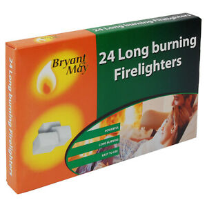 Firelighters-Bryant-amp-May-single-pack-of-24-Long-Burning-Home-Fire-Warm-Heat
