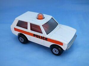 Vintage-1975-Matchbox-Rolamatics-N-20-policia-patrulla-Range-Rover-Blanco-Coche-de-juguete