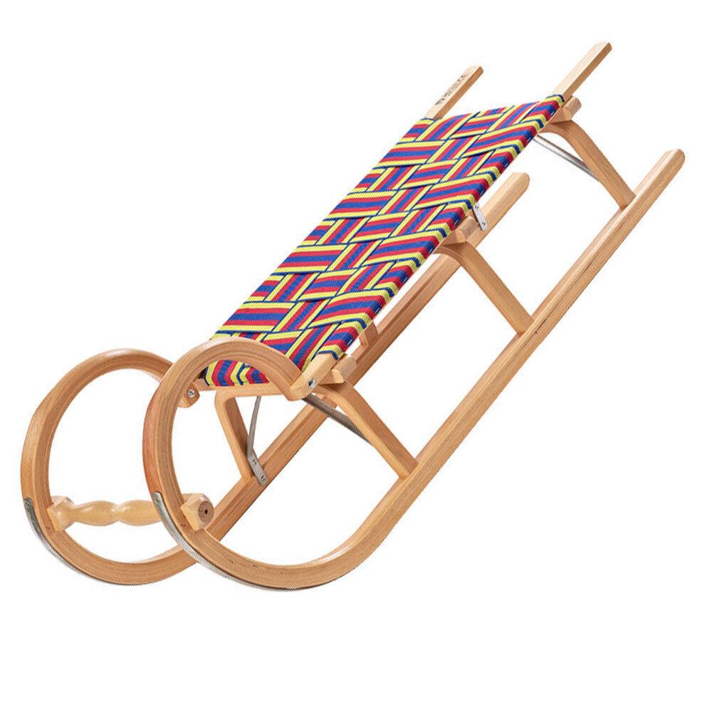 Ress Sledge Toboggan Sled Wooden Sled Hörner Sled Belt Seat New