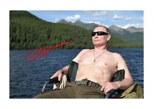 Choice of frame. Vladimir Putin A4 signed mounted photograph poster