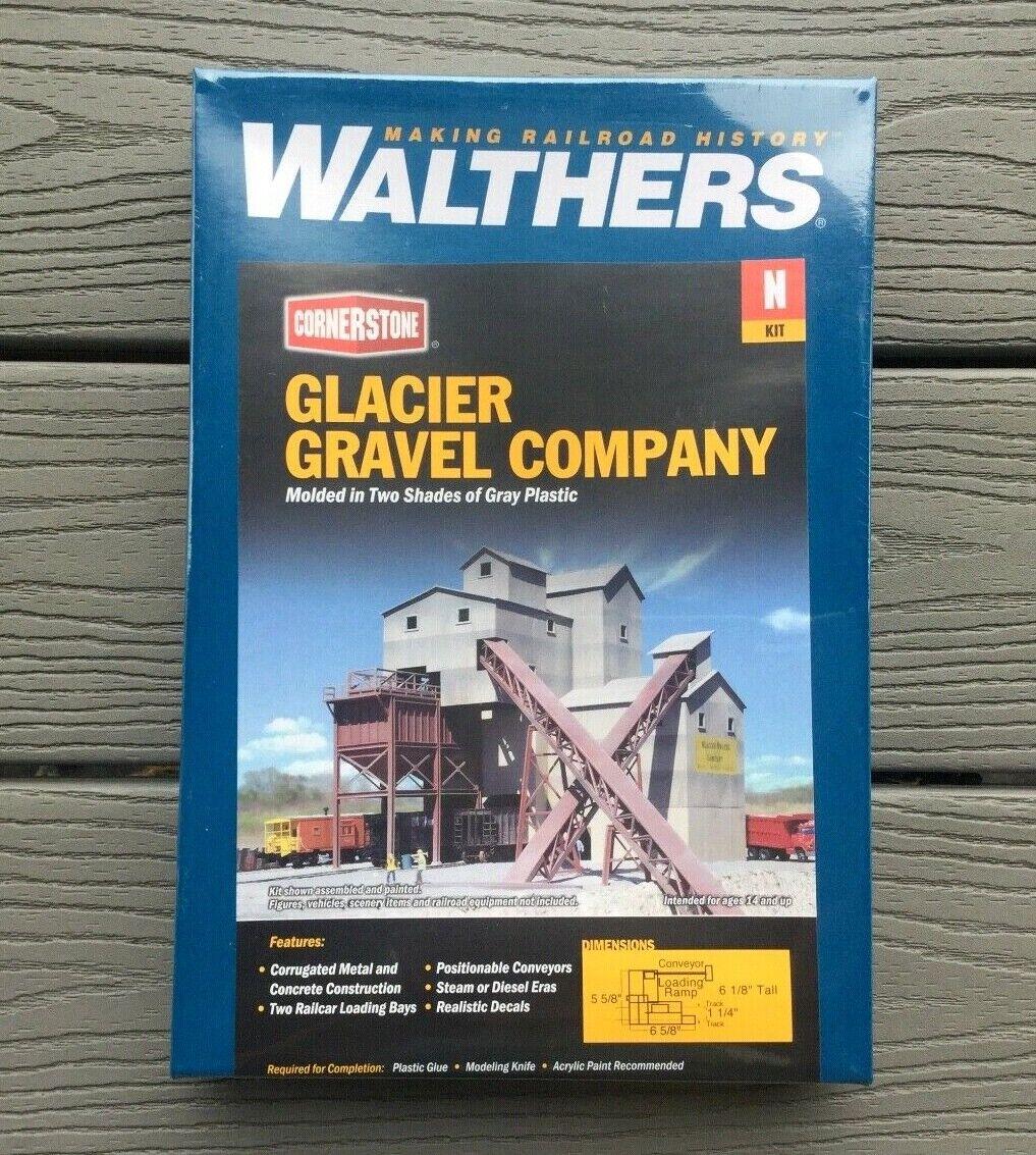 WALTHERS 1 160 N SCALE CORNERSTONE GLACIER GRAVEL COMPANY  KIT ITEM 933-3241 F S