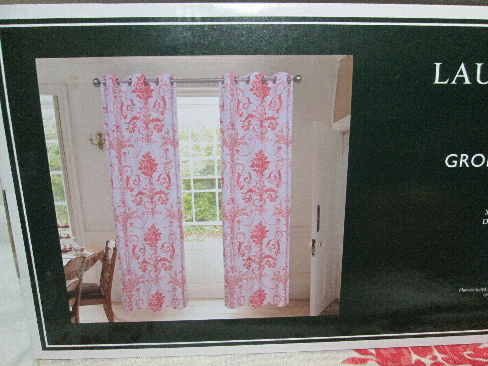 New New New Laura Ashley JOSETTE Floral Grommet Panels Two 40 x84  Ivory Berry Flowers 7fa443