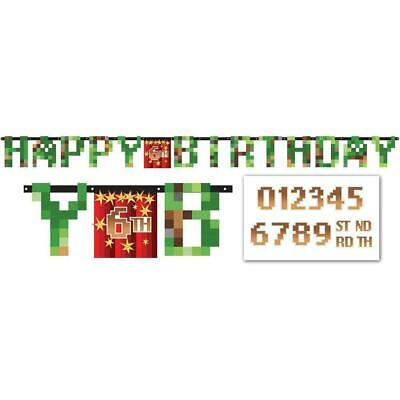 Tnt Minecraft Pixel Add An Age Happy Birthday Jumbo Letter Banner Kit 13051732271 Ebay