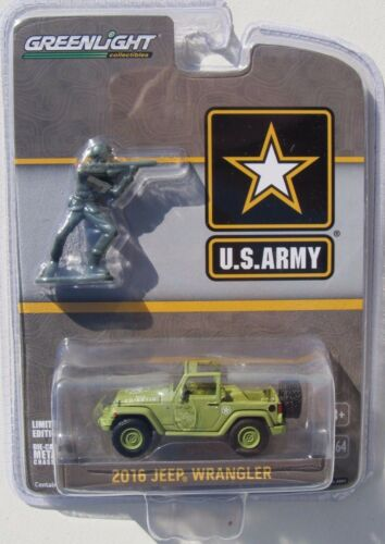 GREENLIGHT U.S. ARMY 2016 JEEP WRANGLER & SOLDIERS FIGURE HOBBY EXCLUSIVE