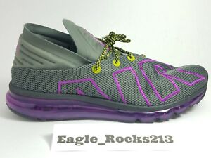 f09134e7631a38 NEW Nike Air Max Flair Up Tempo Gray Purple Volt Running Shoes Sz 11 ...