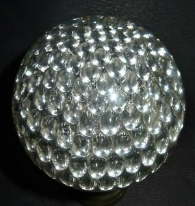 Boule-Escalier-En-Cristal-Modele-Nid-d-039-Abeilles-Monture-bronze-19eme