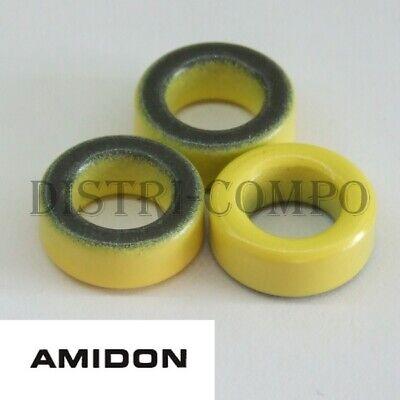 lot de 2 T106-26 Tore amidon jaune blanc 26.90x14.50x11.1mm