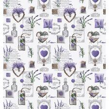 Herrlicher Provencestoff, Coeurs Lavande, Lavendel, Baumwolle, Breite 160cm