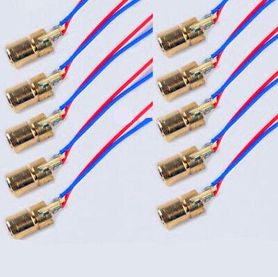 10pcs Mini 650nm 6mm 3V 5mW Laser Dot Diode Module Head WL Red