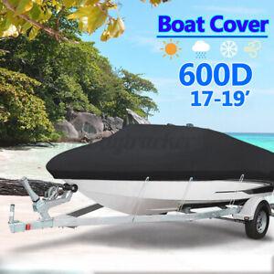 600D-Extra-Heavy-Duty-Boat-Cover-Trailerable-Ski-Fish-V-hull-Marine-17ft-19ft-UK