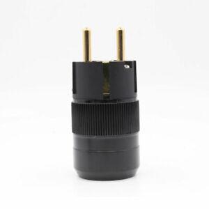 Monosaudio-pcs-HI-End-Gold-Plated-Schuko-Power-Plug-AC-Male-Connector-hifi