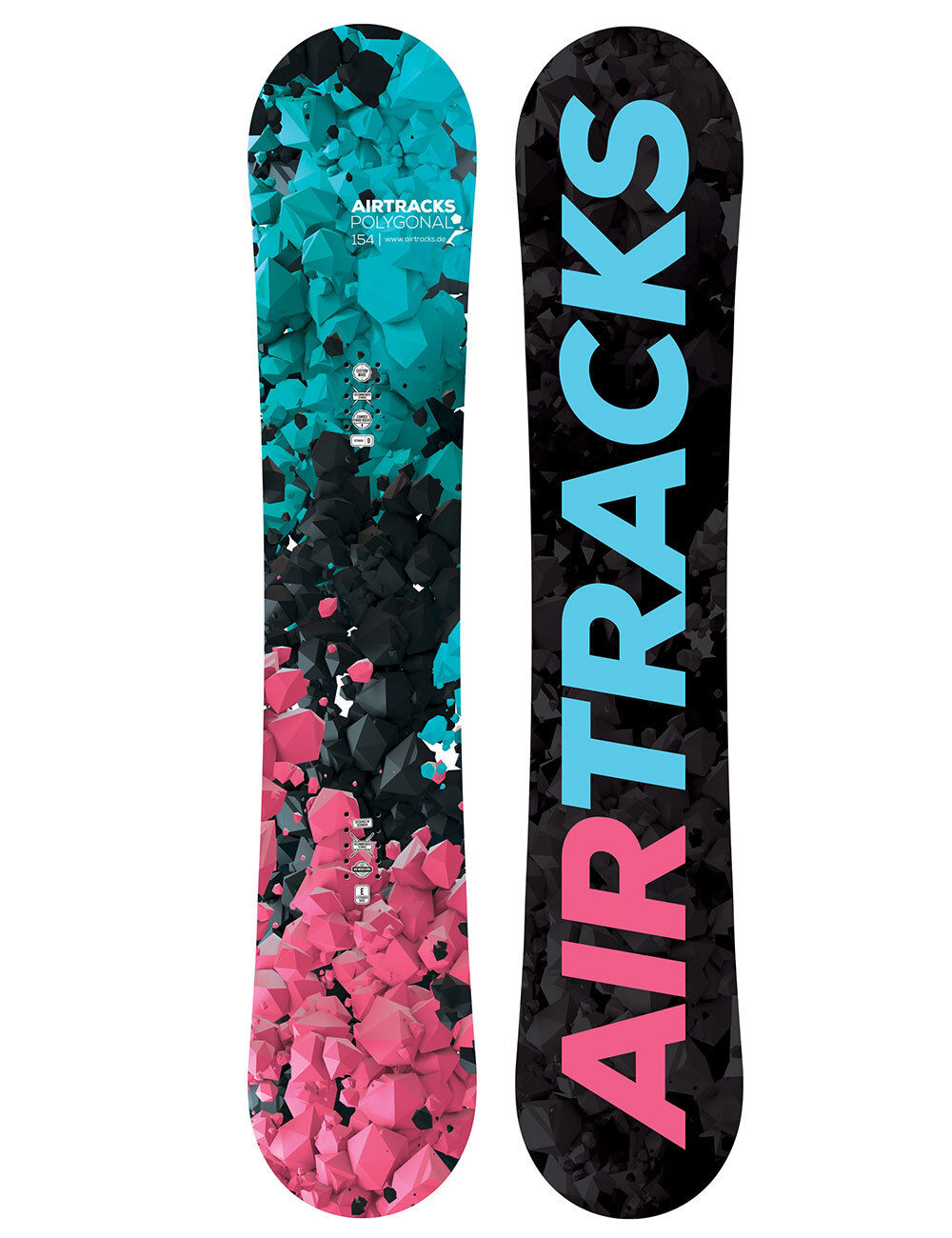 Airtracks Snowboard Mujer Polygonal Freestyle Todo Montaña 138 144 148 154cm