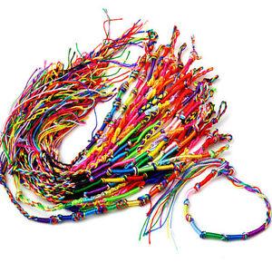 50-pcs-Colourful-Handmade-Braided-Friendship-Bracelets-uk-seller
