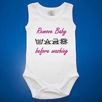 Babybody Baby-Body Babyparty Geschenk Geburt Remove Baby before washing