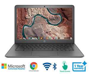 HP Chromebook 14 Laptop AMD 2.2 GHz 4 Memory Bluetooth WIFI Webcam Touch Screen