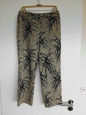 Viventy Damen Hose/jeans Schwarz-beige Muster Gr.38 ~~top Teil Eine Lange Historische Stellung Haben