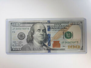 100-Bill-Federal-Note-Almost-PERFECT-LADDER-SERIAL-NUMBER-3456789
