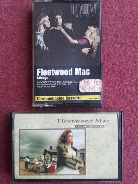 "Fleetwood Mac ""Mirage"" & ""Behind The Mask"" 2x Original Music Cassette Albums"