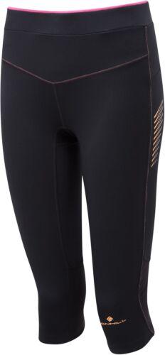 Ronhill Stride Stretch Femme 3//4 Capri Running Collants-Noir