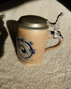 Salzglasur German Beer Stein Cobalt Blue Bier Mug GERMANY # 42 out of 433 Made