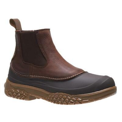 2c2566442d3 Mens Wolverine Yak Chelsea Brown Leather Waterproof 6