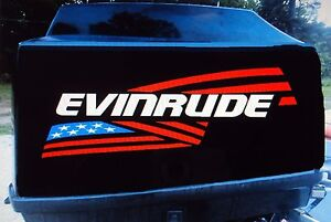 2 - Evinrude flag Outboard decals marine vinyl  19 x 5 inch