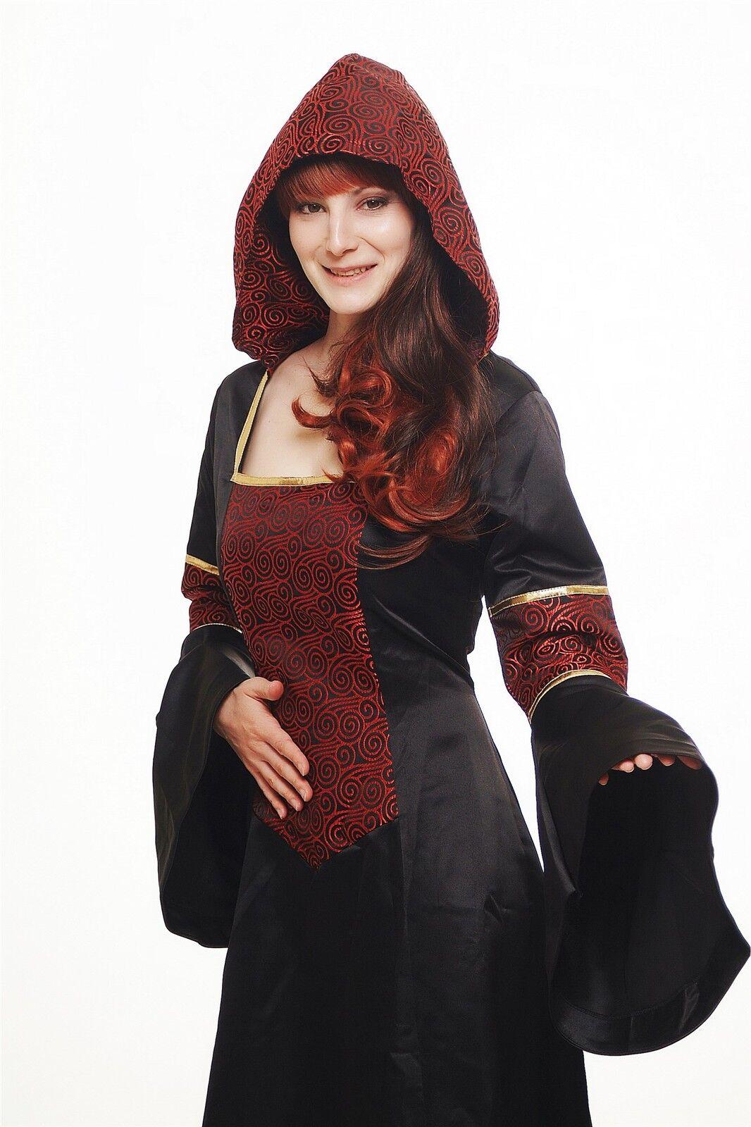 Kostüm Damenkostüm Kleid mit Haube Mittelalter Romantik Romantik Romantik Elfe Gothic L076 NEU | Die erste Reihe von umfassenden Spezifikationen für Kunden  | Tadellos  | Bestellungen Sind Willkommen  f25eae