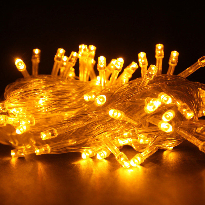 Yellow Led String Lights : 100 LED 10M YELLOW String Fairy Lights Christmas Wedding Garden Party Xmas Decor eBay