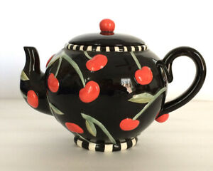 Mary Engelbreit Cherry Teapot — Limited Ed 1995 — ME Ink — Charpenté