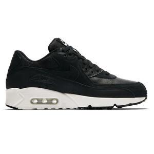 Nike Air Max 90 Ultra 2.0 Ltr Leather Black Summit White Men Running ... 15614dbaa2