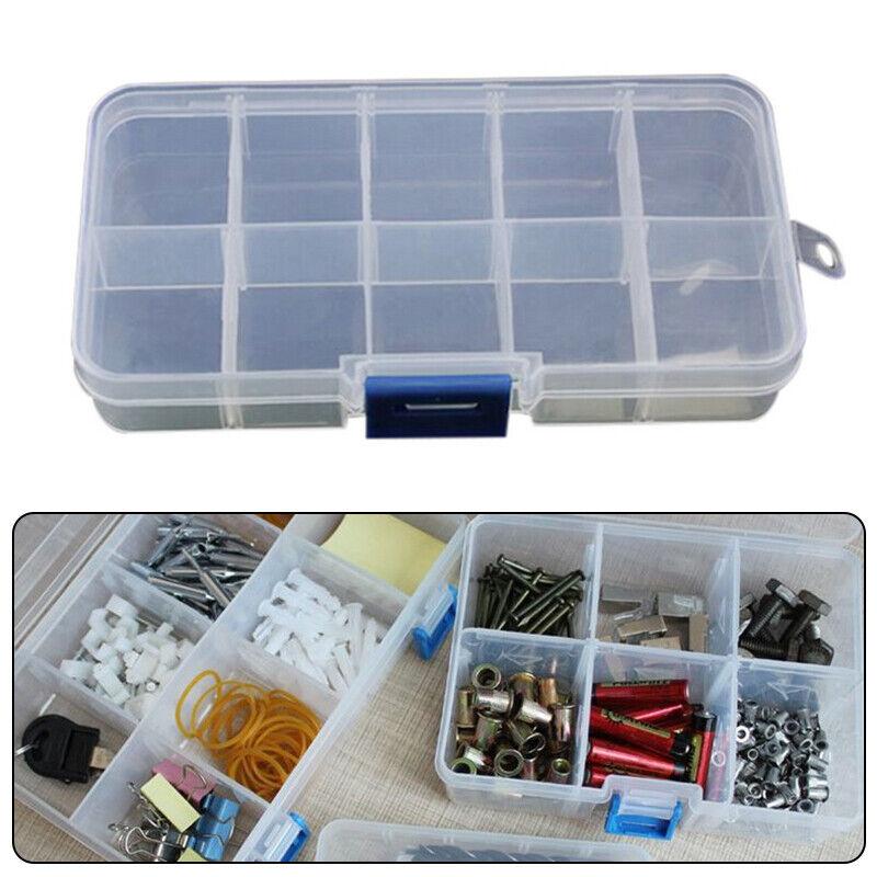 Las piezas pequeñas de plástico caja de herramientas de componentes electrónicos para guardarlas -