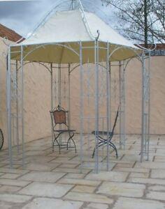 Pavillion-Metall-Pavillon-Pavilion-Gartenlaube-Schmiedeeisen-Romanco-Eisen-Zink