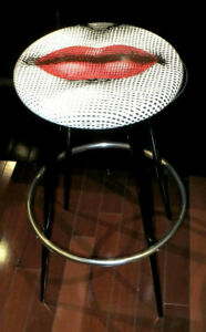Wondrous Details About Extremely Rare Authentic Fornasetti Julia Bocca Red Lips High Bar Stool Gamerscity Chair Design For Home Gamerscityorg
