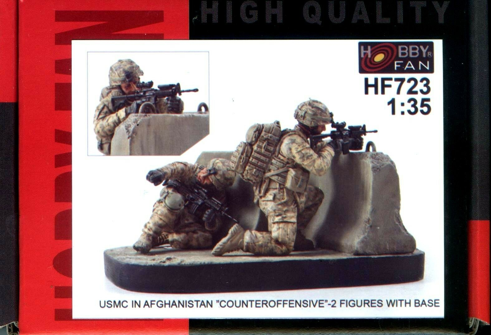 Hobby Fan 1 35 HF-723 USMC in Afghanistan  Counteroffensive  - 2 Figures w Base
