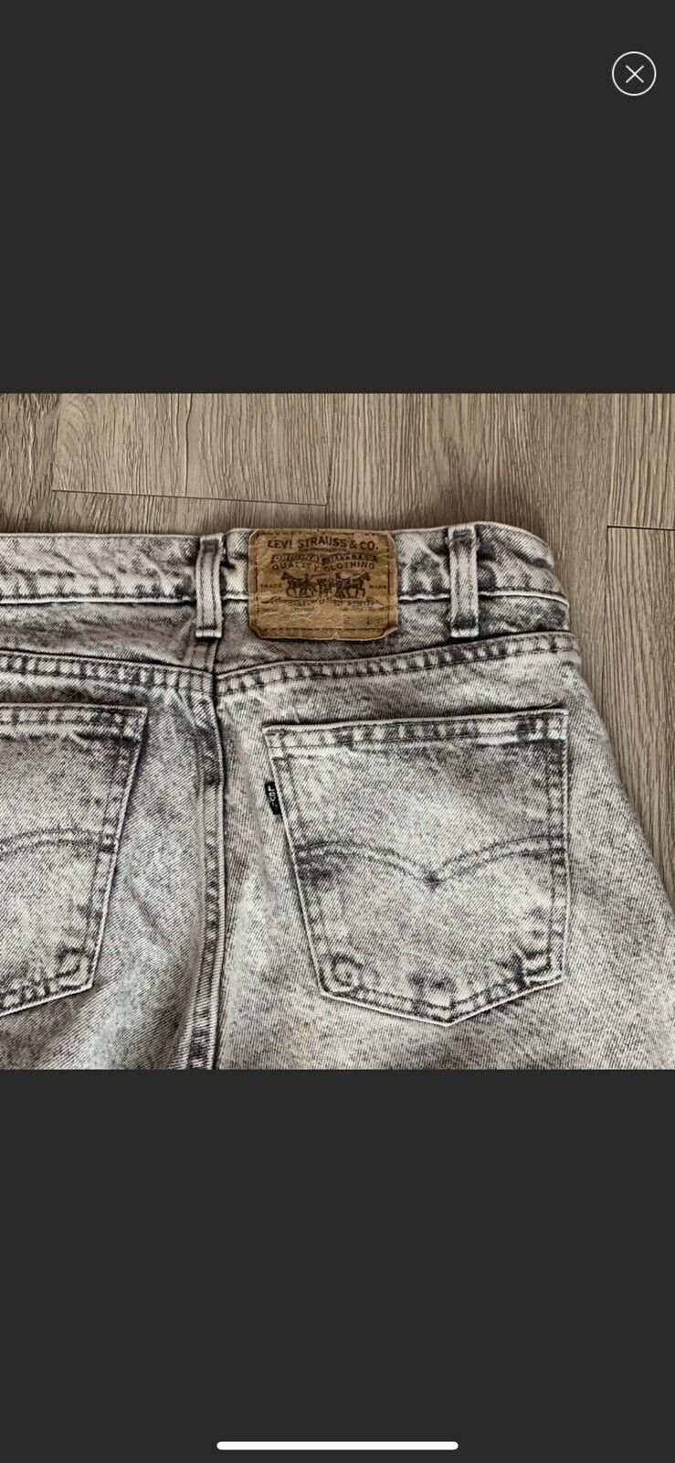 vintage high rise levis made in USA Gray - image 12