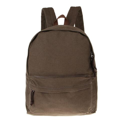Plain Canvas Backpack Teens Students Bookbags School Bag Daypacks Unisex