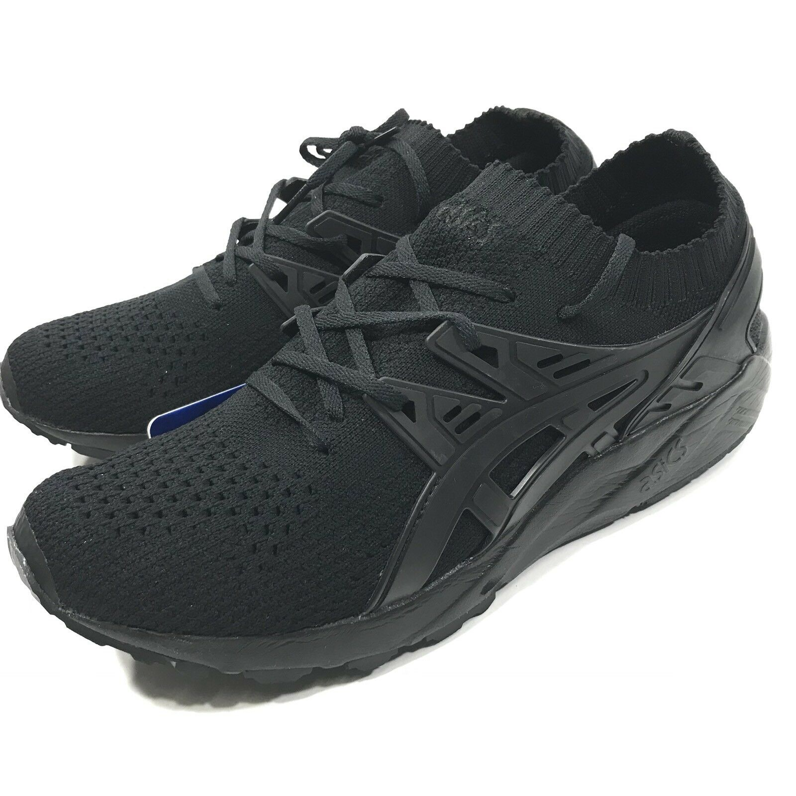 Asics Mens Gel Kayano 8 Trainer Knit Triple Black 8 Kayano Y0109 5f3b49