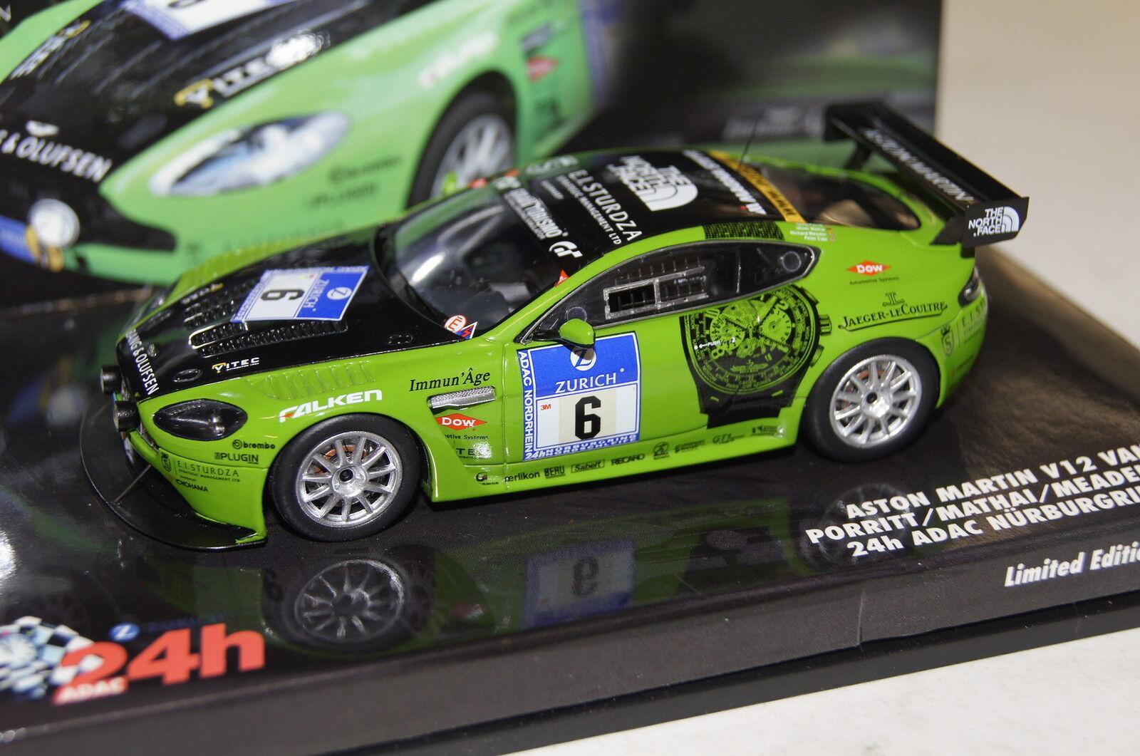 Aston Martin v12 Vantage n24 Green 1 43 Minichamps NEW + OVP 437101306