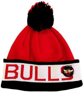 Bonnet-a-pompon-MITCHELL-And-NESS-NBA-Chicago-BULLS-Block-Cuff