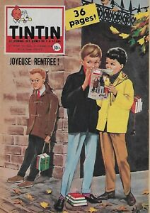 JOURNAL-DE-TINTIN-N-520-OCT-1958-SUPERBE-COUVERTURE-PAR-ASLAN